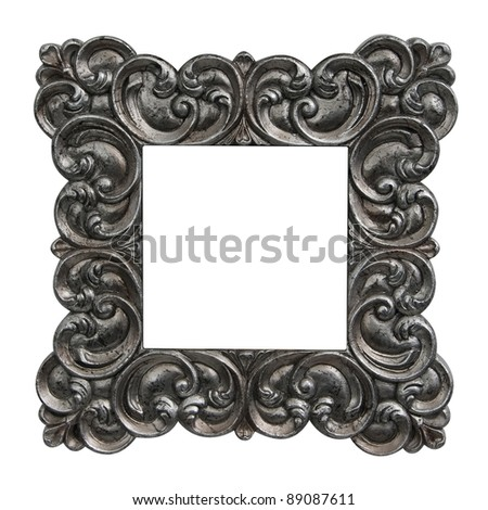 antique frame baroque - stock photo