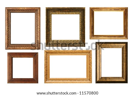 Antique frame collection, add your own text or pictures. - stock photo
