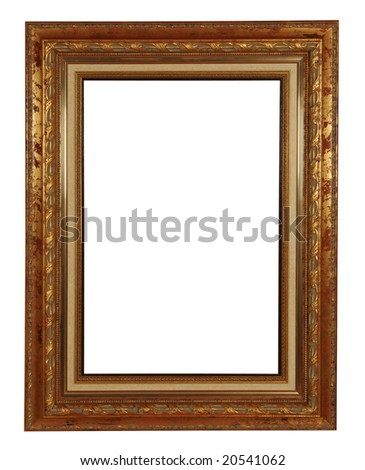antique frame with clipping path - stock photo