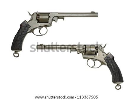 antique German Navy Revolver - stock photo