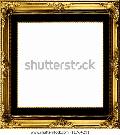 Antique gilt frame to set off your pictures - stock photo