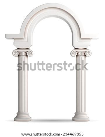 Antique Greek Arc - stock photo