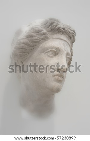 Antique greek female bust - stock photo