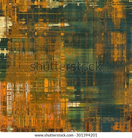 Antique grunge background with space for text or image. With different color patterns: yellow (beige); brown; green; gray - stock photo