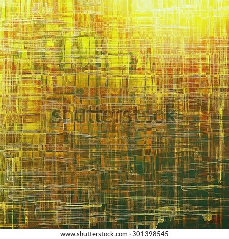 Antique grunge background with space for text or image. With different color patterns: yellow (beige); brown; green; red (orange) - stock photo