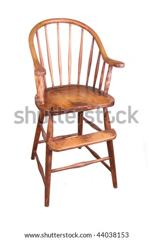 Antique high-chair - stock photo