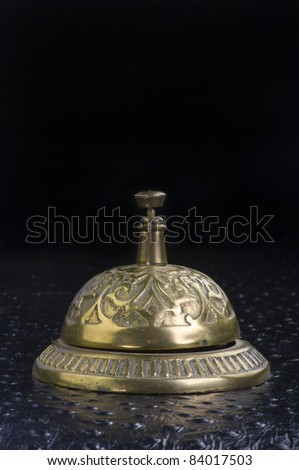 Antique Hotel Bell Ringer Made in the 1930's. - stock photo