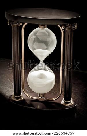 Antique Hourglass - stock photo