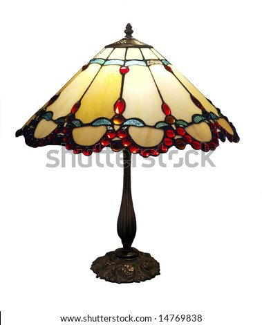 Antique Lamp isolated with clipping path - stock photo