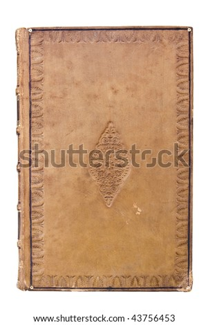 Antique leather book Cover - stock photo