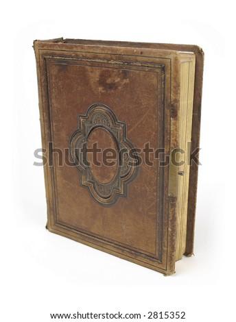 antique leatherbound book style photo album stock photo 2815354