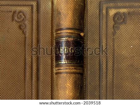 Antique ledger - stock photo