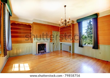 Antique library in a residence. Amazing home from 1856 has never been touched since then. All details remain original. Lakewood, Washington State, US. - stock photo