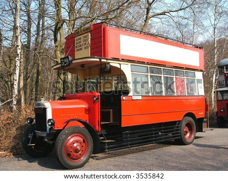 Antique London Bus