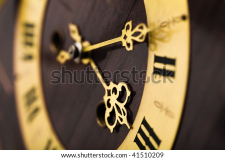 antique looking clock dial - stock photo