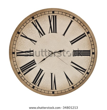 Antique looking clock face