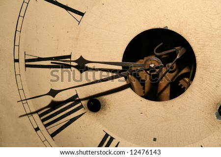 grandfather clock face gears. antique looking grandfather clock face with gears