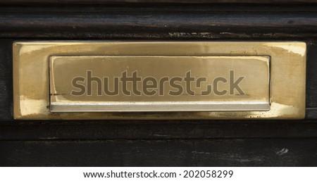 antique mailbox - stock photo