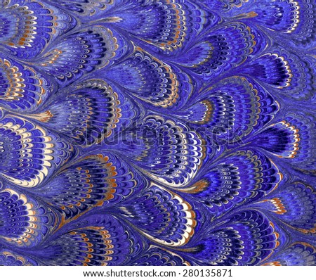 Antique Marbled Paper Background. Beautiful purple colors. - stock photo