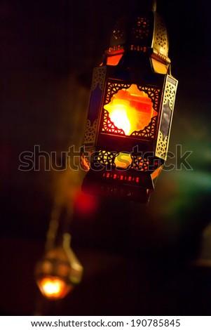 Antique Moroccan Lantern - stock photo