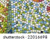 antique mosaic close up - stock photo