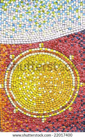antique mosaic close up - stock photo