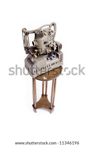 antique movie projector - stock photo