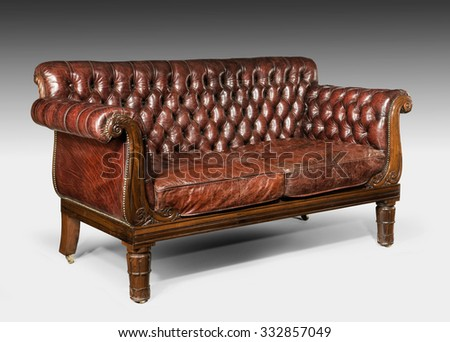 Antique old vintage couch sofa