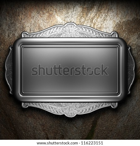 Antique ornament frame - stock photo