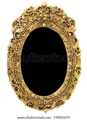 Antique oval  gold picture frame