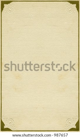 Antique page with frame design. From early 1900's. Some grunge intact. - stock photo