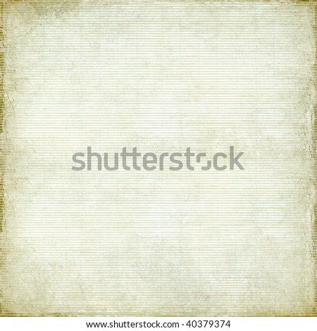 antique paper and bamboo woven background with light grunge frame - stock photo