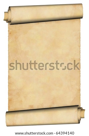 Antique paper scroll - stock photo