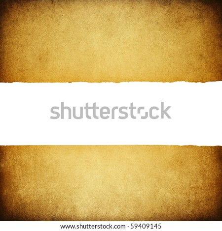 Antique paper vintage background with isolated center (space for text). - stock photo