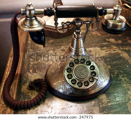 Antique Phone - stock photo