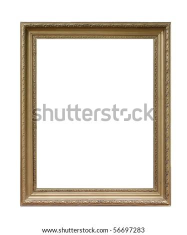 Antique photo frame - stock photo