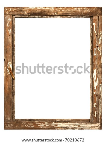 Antique photo frame - stock photo