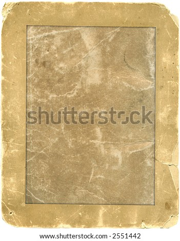 Antique photo frame with work path. - stock photo