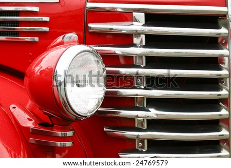 antique pickup truck - stock photo