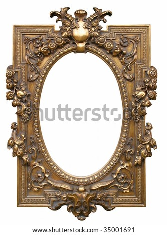 Antique picture frame from the 19. century. - stock photo