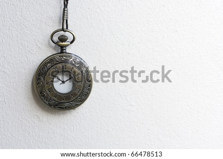 Antique Pocket Watch - stock photo