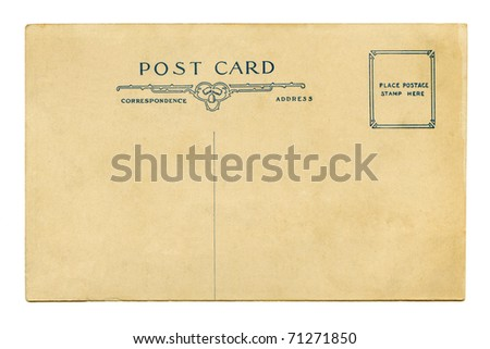 Post Card Back Stock Photos, Royalty-Free Images & Vectors ...