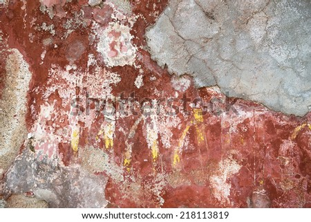 Antique red wall texture