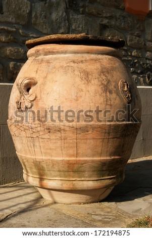 antique roman barrel - stock photo