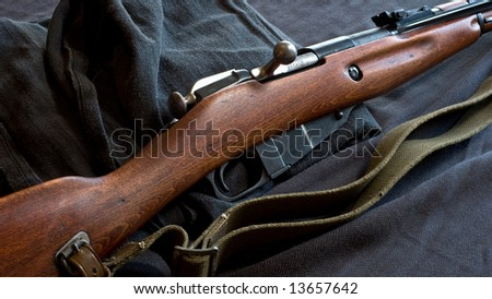 Antique Russian Mosin Rifle - stock photo