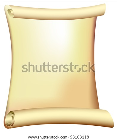 antique scroll - old parchment - stock photo