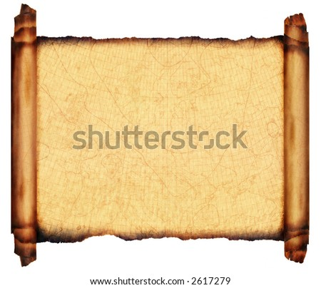 Antique Scroll Parchment - stock photo