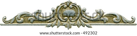 Antique Scroll Top/Border from the early 1900's. - stock photo