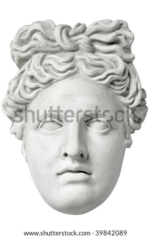 antique sculpture - stock photo