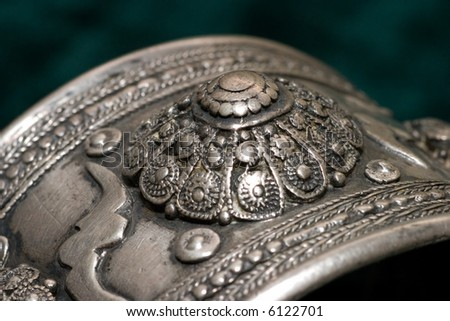 antique silver decoration